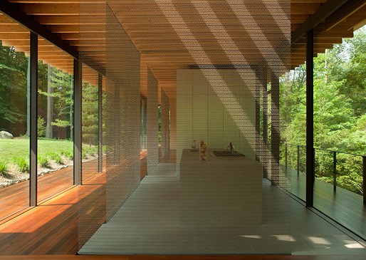 Glass/Wood House by Kengo Kuma Architect, New Canaan, CT 2011. Image © Undine Pröhl.