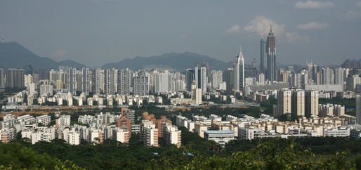 Shenzhen, a city in southern China, has boomed from a small fisihing village to a major urban center since the establishment of the special economic zone just over 30 years ago (The Atlantic Cities; Reuters/Bobby Yip).