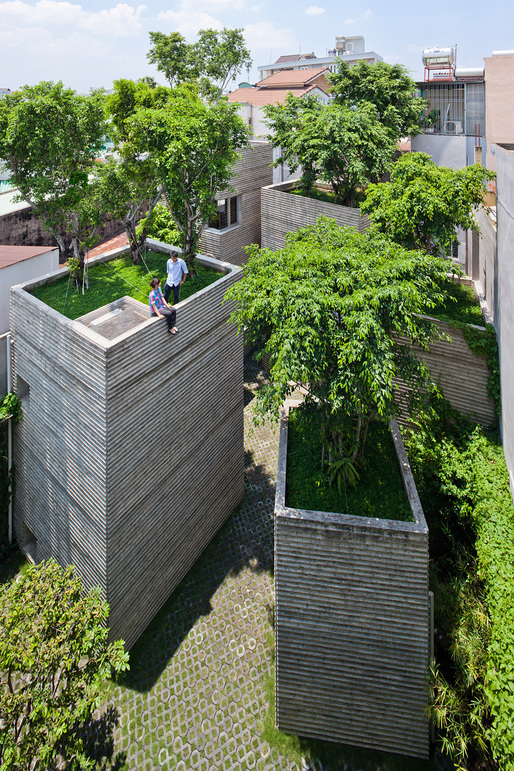 Completed Buildings - House: House for Trees, Vietnam, by Vo Trong Nghia Architects. Photo courtesy of World Architecture Festival Awards 2014.