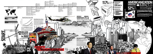 """Korean Diaspora"" by Carlos Zarco Sanz won 3rd-prize in the Public/Institutional category for Re-thinking The Future's International Architectural Thesis Award 2013. Image: Carlos Zarco Sanz."