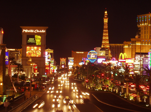 The Las Vegas strip, courtesy of