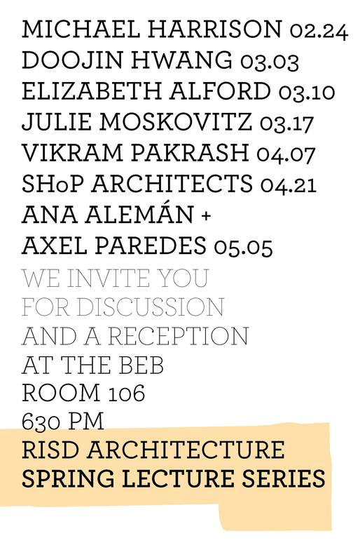 Spring '14 Lectures at the RISD School of Architecture. Image via architecture.risd.edu.