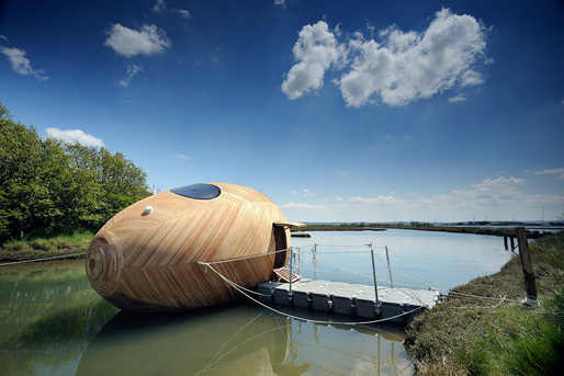 Shortlisted for RIBA Stephen Lawrence Prize 2014: The Exbury Egg, New Forest by PAD Studio. Photo: Nigel Rigden