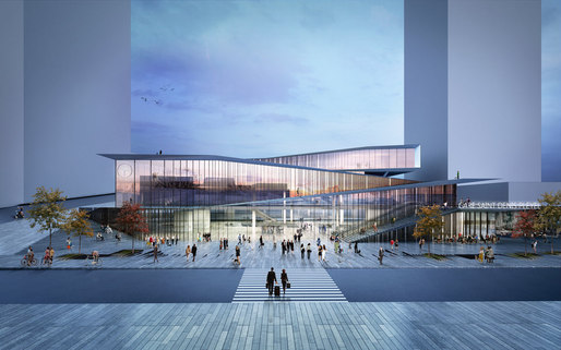 Saint-Denis Pleyel Metro Station in Paris by Kengo Kuma & Associates. Image courtesy of Kengo Kuma & Associates.