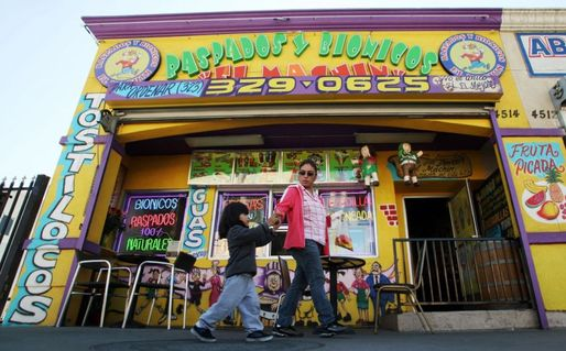 A store with desserts in East Los Angeles. (AP Photo/Reed Saxon, via NextCity.org)