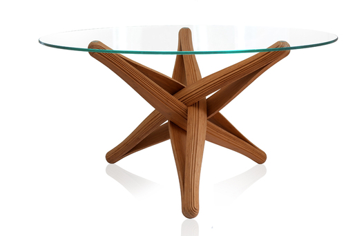 &quot;LOCK&quot;bamboo dinner-table by J.P.Meulendijks for PLANKTON