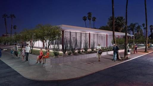 A rendering of the Architecture and Design Center, Edwards Harris Pavilion, in Palm Springs. It opens to the public Nov. 9 (Los Angeles Times; Image: Palm Springs Art Museum)