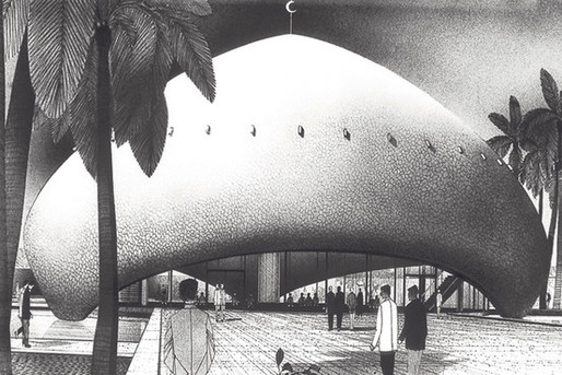 Walter Gropius and Hisham A. Munir's design for the University of Baghdad Campus (1957).