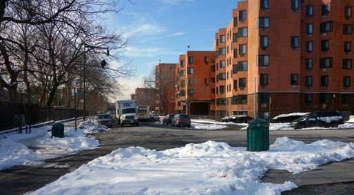 Lambert Houses from Boston Road. (Photo: Susanne Schindler; Image via urbanomnibus.net)