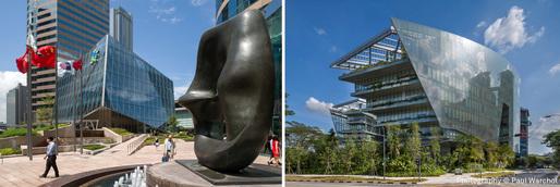 Left: The Forum, Hong Kong; Right: Sandcrawler, Singapore