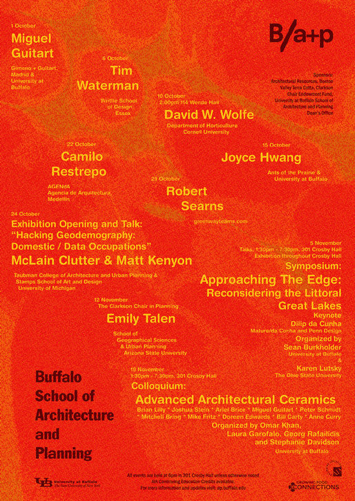 University of Buffalo, School of Architecture and Planning: Fall 2014 Public Programs. Image via ap.buffalo.edu