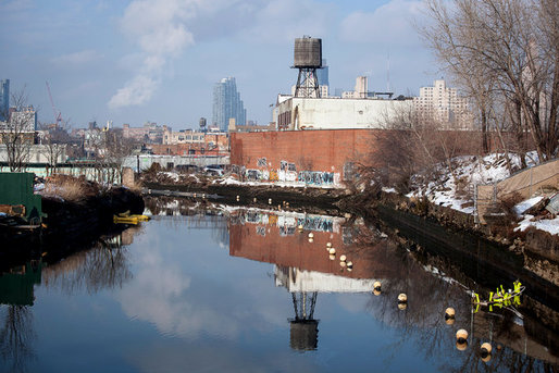From 2004 to 2012, housing prices in Gowanus rose 52 percent despite the presence of the polluted Gowanus Canal. Townhouse prices there are still lower than in other parts of gentrifying Brooklyn. (Michael Kirby Smith for The New York Times)