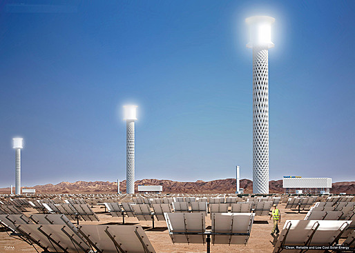RAFAA's proposed Solar Plant Tower, Concept A (Image: RAFAA)