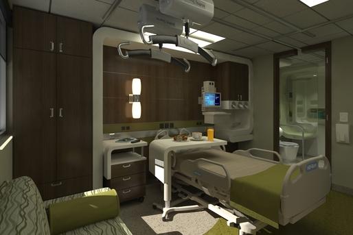 paradise valley hospital telemetry unit patient room mock