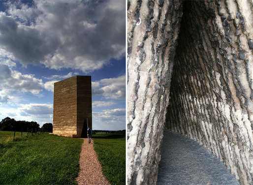 Peter Zumthor, Bruder Klaus Chapel, 2006, Mechernich, Germany. [Photos by Florian Seiffert and Claus Moser]