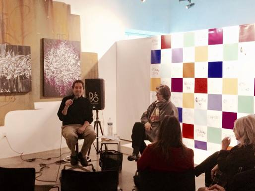Susan S. Szenasy in conversation with Greg Goldin at the A+D Museum. Credit: A+D Museum's Facebook page