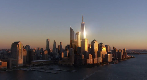 Still from &quot;Rising: Rebuilding Ground Zero&quot; (Image: dbox)