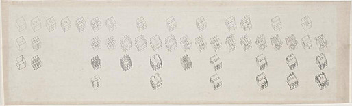 Peter Eisenman, axonometric sequence of diagrams