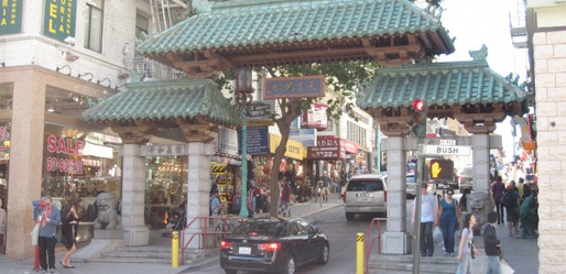 The Gate to San Francsico's Chinatown on Grant Avenue at Bush Street. (Photo: Jason Margolis)