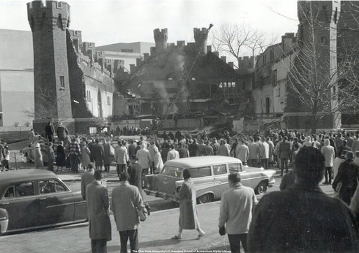 Armory demolition, 1959 (historical photos from the archives at The Ohio State University Knowlton School of Architecture Digital Library)