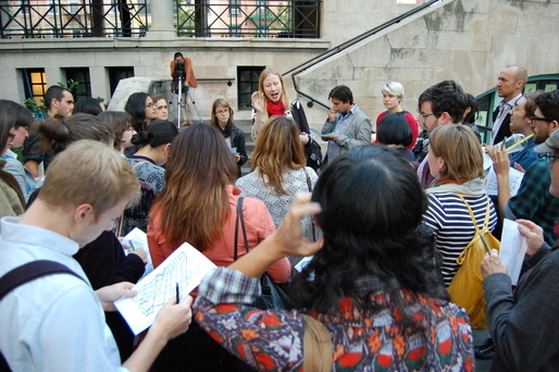 Students gathered in New York City. Image courtesy of GSAPP.