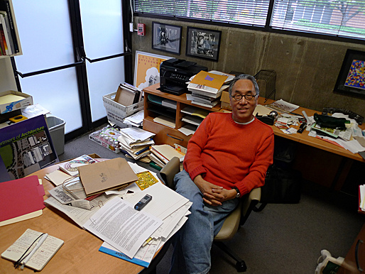 Michael Woo in his office