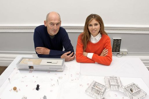 Rem Koolhaas and his client, Garage Museum founder Dasha Zhukova. (Photo: Ben Pruchnie © Garage Center for Contemporary Culture, Moscow)