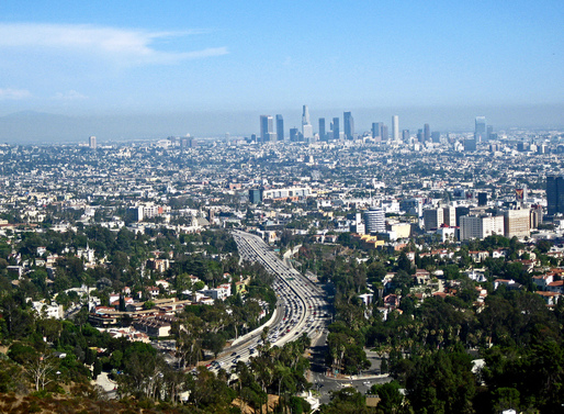 LA skyline from Mulholland Drive. Photo via flickr/Raymond Shobe.
