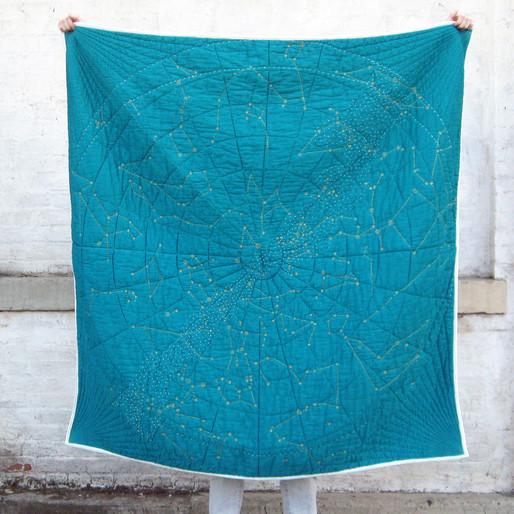 Constellation quilt (2013). Image courtesy Emily Fischer.