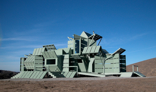 The realized M-House, built in 2000 in Gorman, near Los Angeles, CA