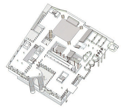 Axonometric at Garden level