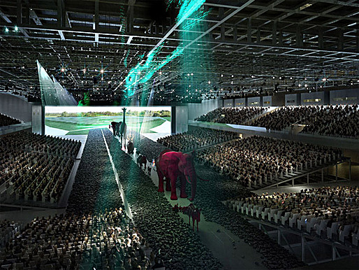 Visualization of OMA's competition-winning design for the new Parc des Expositions (Image: OMA)