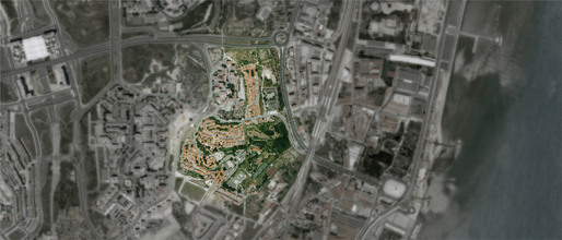 Aerial photo of the PRODAC neighborhood (Image: ateliermob)