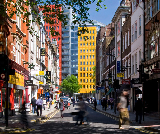 Central St. Giles Court, London. Renzo Piano Building Workshop © Agnese Sanvito