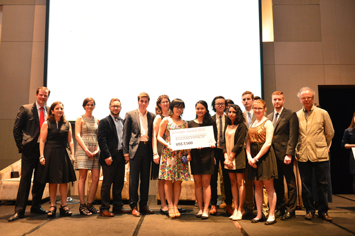 The NJIT team takes home first honorable mention at the Global Schindler Awards in Shenzhen, China.