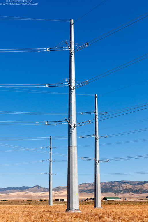 Electricity Transmission Towers, Idaho © Andrew Prokos