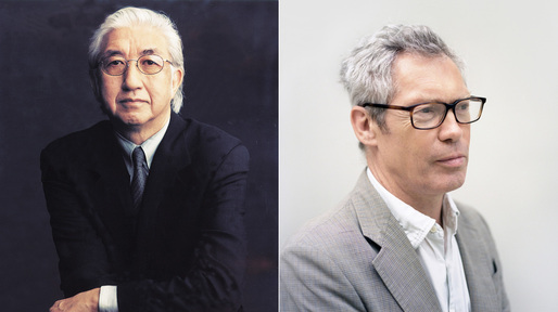 Yoshio Taniguchi (Photo: Timothy Greenfield-Sanders) and Jasper Morrison (Photo: Kento Mori).
