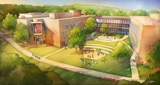 A perspective rendering of Sandy Hook's courtyard (Svigals + Partners, via theatlantic.com)