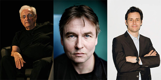 Frank Gehry, Esa-Pekka Salonen, and Nicolai Ouroussoff. Image via the Hammer Museum: http://hammer.ucla.edu/programs/detail/program_id/1918