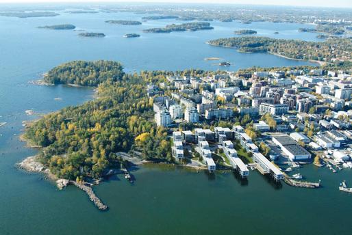 Shortlisted for the 2015 Finlandia Prize of Architecture: Merenkulkijanranta in Lauttasaari, Helsinki by Arkkitehdit NRT Oy. Photo: NRT Arkkitehdit