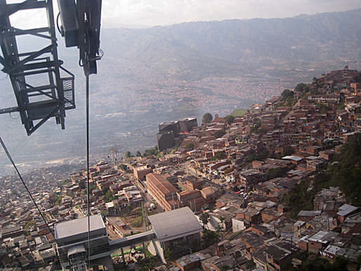 on the Metro Cable (cable car system), Santo Domingo Savio, Medelln (Colombia)