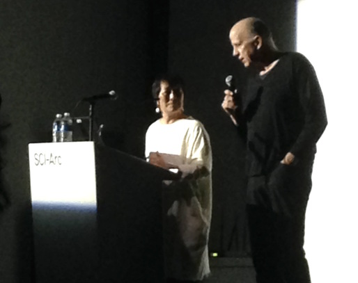 Billie Tsien and Tod Williams at SCI-Arc. Photo by the author.
