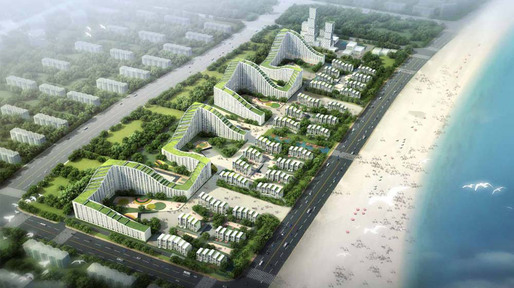Rendering of the Dongjiang Harbor Master Plan Entry (Image: HAO/Archiland Beijing)
