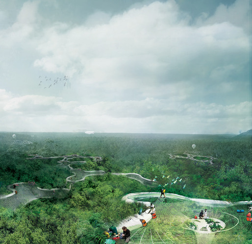 Winner of the Architectural Association's Foster + Partners Prize 2012: 'The 6th Layer – Explorative Canopy Trail' by Yi Yvonne Weng (Image: Yi Yvonne Weng)