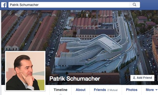"Patrik Schumacher took to Facebook to lambast architecture critics and ""charlatan epigones."" Credit: Facebook"