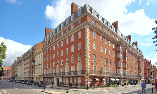The developers of luxury flats at 20 Grosvenor Square, London, saved £9m in contributions to affordable housing under the vacant building credit policy. Image via theguardian.com.