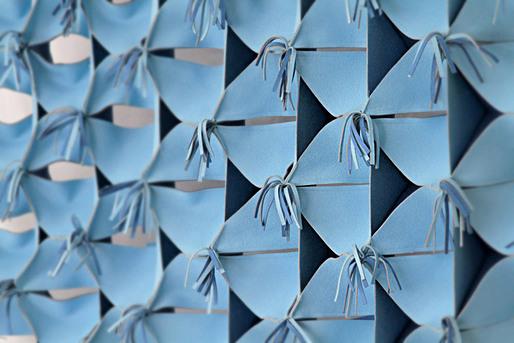 Calystegia, laser-cut felt prototype; Igor Siddiqui / ISSSStudio