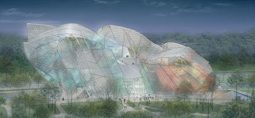 """""""The idea is of a cloud made of glass"""": one of Mr. Gehry's designs. (NYT; Image: Didier Ghislain)"""