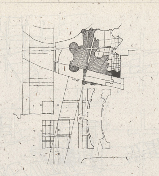 Peter Eisenman, preliminary sketch