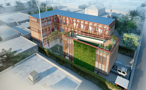 HOK's design for Project Haiti, an orphanage for Port-au-Prince, was inspired by the way kapok trees store water and maximize available resources.